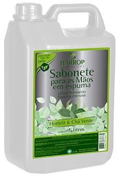 Sabonete em espuma 5L - HORTELÃ E CHÁ VERDE - Industrias Becker